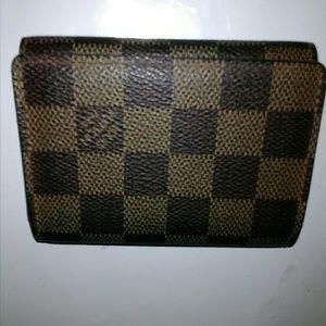 Authentic Louis Vuitton Damier ebene wallet card